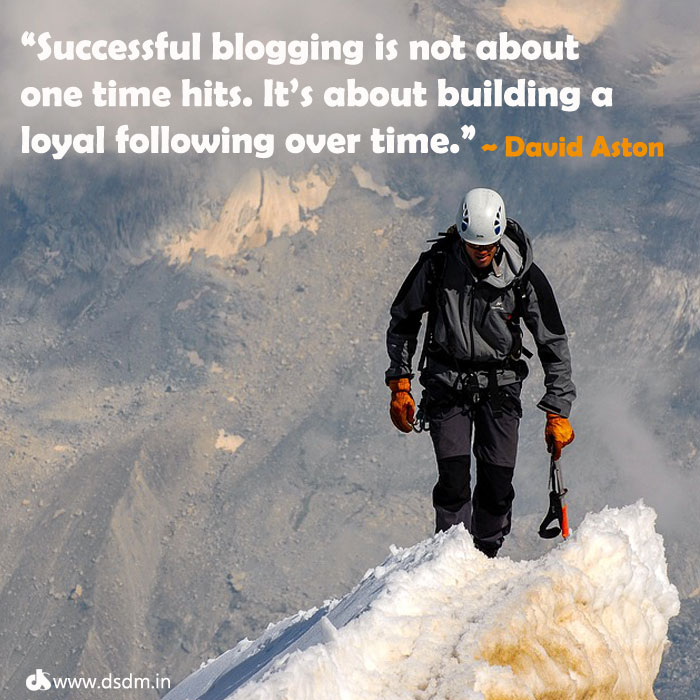 david adison quotes about blogging