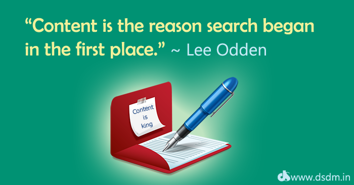 """Content is the reason search began in the first place."" ~ Lee Odden"