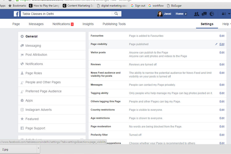 setting up your page - how to create a facebook business page