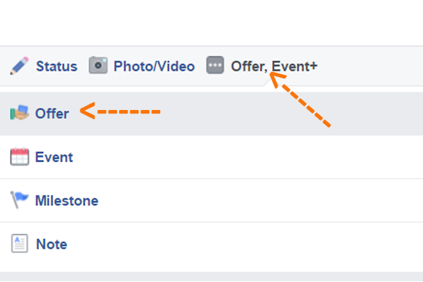 how to make a facebook offer
