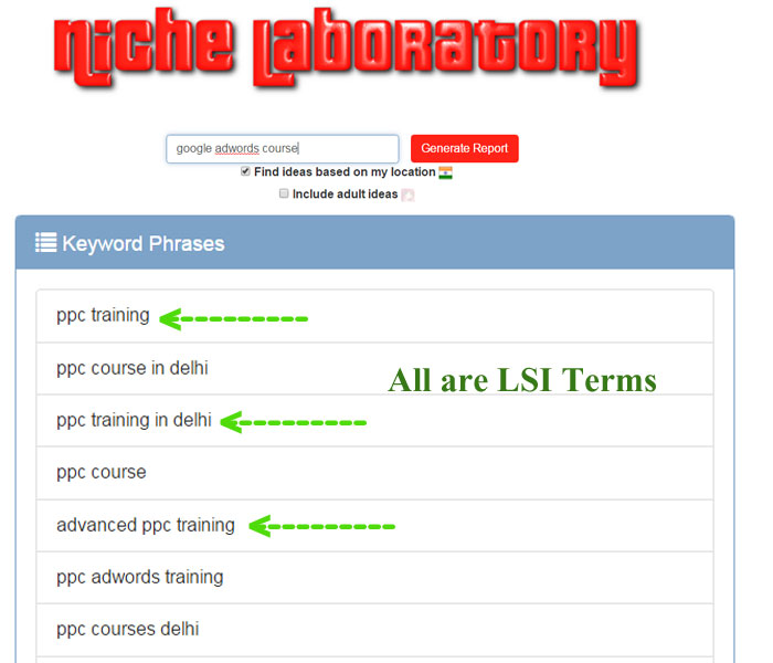 niche laboratory tools for on page optimization