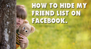 hide Facebook friend list