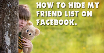 How to Hide My Friend List From Facebook Profile