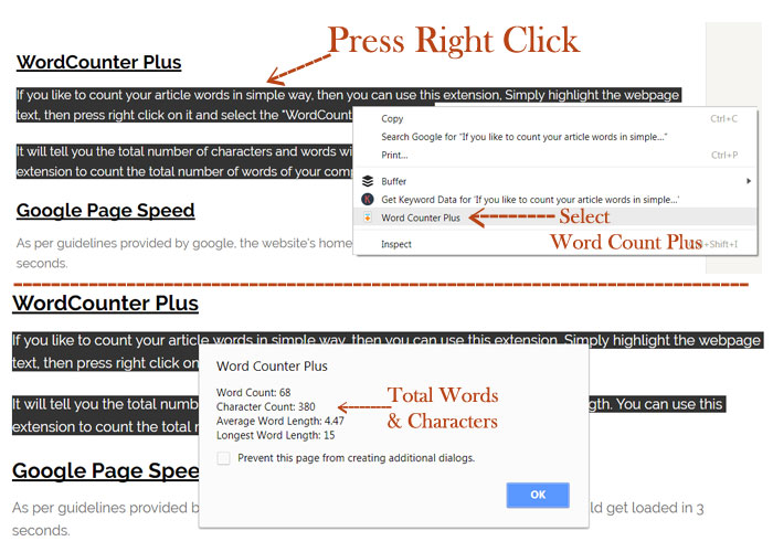 word count plus tool for on page work