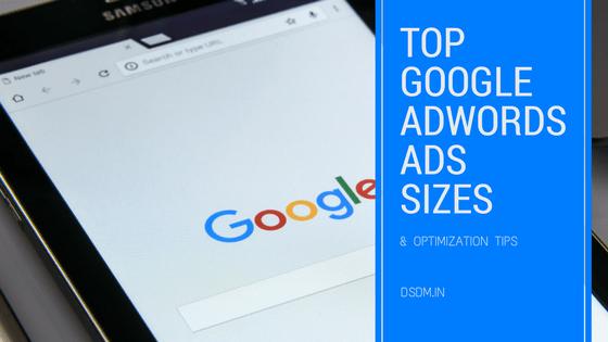 adwords ads sizes